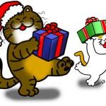 「プレゼントをお届け」