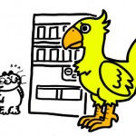 夢で見たんですよ、チョコボが自動販売機前で困っているのを・・