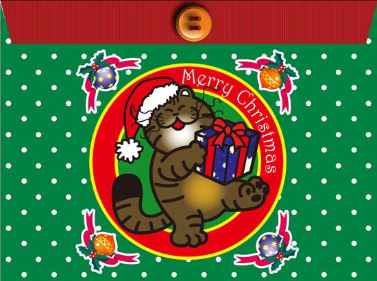 猫/クリスマス封筒のコピー